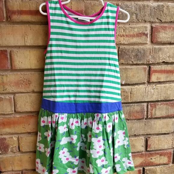 Girls Mini Boden Long Sleeve Striped Dress Years 4-5 5-6